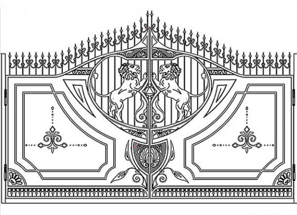 45, Ворота, калитки эскиз
